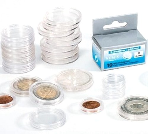 CAPS45 - 45 mm portal round coin capsules. (pack 10)