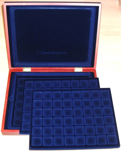Coin Presentation Case, 3 trays for coins up to 30mm