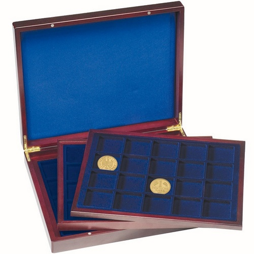 Deluxe Coin Presentation Case, 3 trays for coins up to 48mm