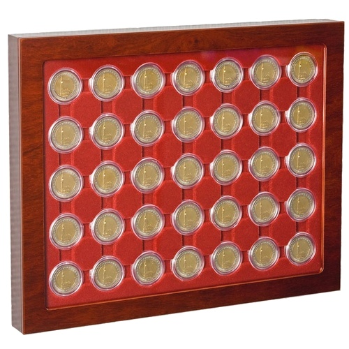 Coin showcase to suit CAPS32 - CAPS32.5 encapsulated coins