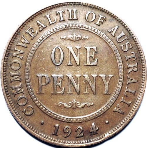 1924 Australian Penny, 'good Very Good'