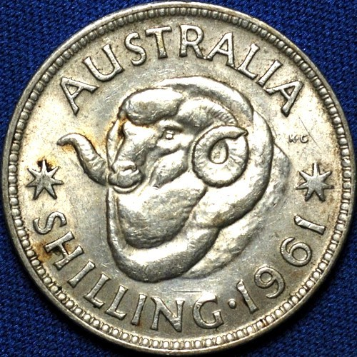 1961 Australian Shilling, 'Extremely Fine'